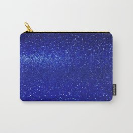 Abstract shiny blue glitter background Carry-All Pouch