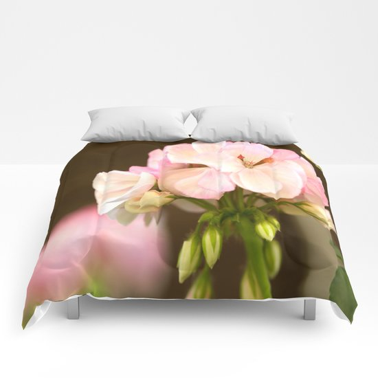 Soft Pink Petals Comforters