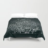 universe Duvet Covers featuring Universe by Pani Grafik