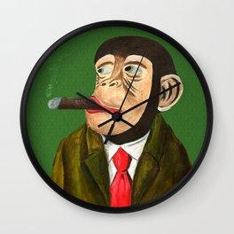 Rich Monkey from Animal Society Wall Clock