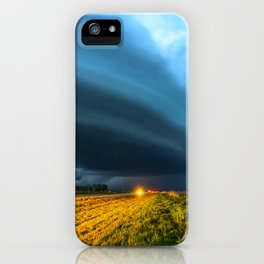 UFO - Storm After Dark in Southern Oklahoma iPhone Case