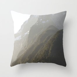 Layers of Sound Throw Pillow