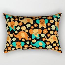 Stylized Elephant Children's Pattern Rectangular Pillow