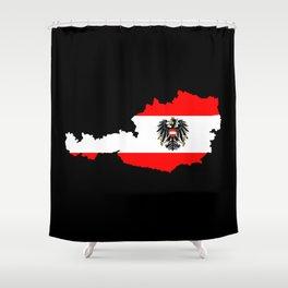 Austrian Flag and Map Shower Curtain