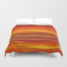 Sunset stratum Duvet Cover