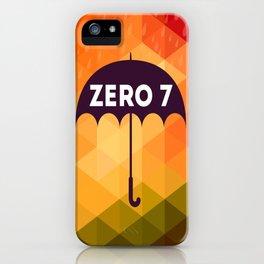 Zero 7 Poster - Sia Furler Mozez Jose Gonzalez Umbrella Print Rain iPhone Case