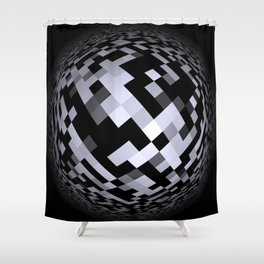 black-and-white -05- Shower Curtain