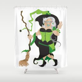 Granny Hex (Green) Shower Curtain