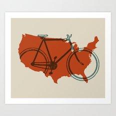 Bike America Art Print