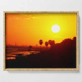 Golden Sunset Serving Tray