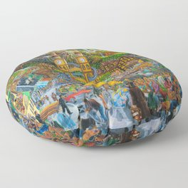 Magical Mystery Tour Color Edit Floor Pillow