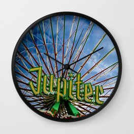 Ferris wheel at the funfair Wall Clock