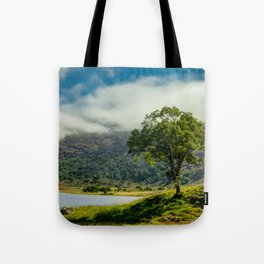 Lone Tree in a Highland Glen Tote Bag