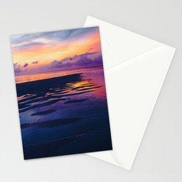 Maldivian sunset 5 Stationery Cards
