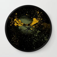 mike wrobel Wall Clocks featuring Mike by Arian Noveir