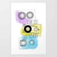 old school Art Prints featuring old school by Sara Eshak