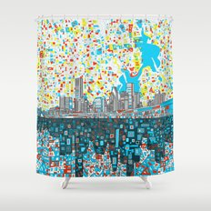 houston city skyline Shower Curtain