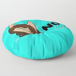 I am NOT cute (Head with text) Floor Pillow