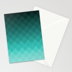 Ombre squares Stationery Cards