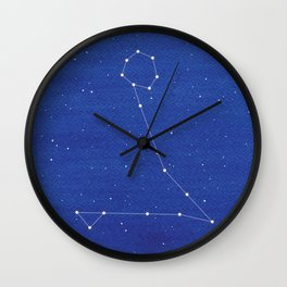 Pisces constellation, mountains Wall Clock