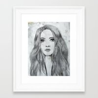 karen Framed Art Prints featuring Karen by Just Art by Lena Wennerström