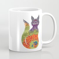 alice in wonderland Mugs featuring Wonderland by Heather Searles