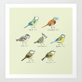 The Tit Family Art Print