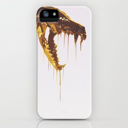Painted Skull Gold iPhone Case