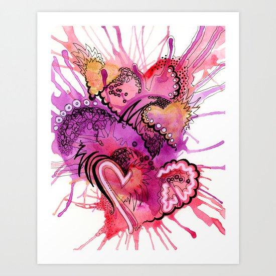 Six Valentines Art Print