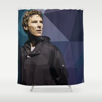 hamlet Shower Curtains featuring Benedict Cumberbatch - Hamlet Barbican by khitkhat