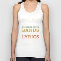 bands Tank Tops featuring MORE Mumbling Bands — Music Snob Tip #095.5 by Elizabeth Owens