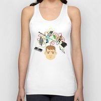 nerd Tank Tops featuring Nerd by Mouki K. Butt