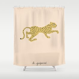 le guépard Shower Curtain