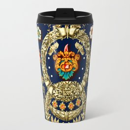 Art Nouveau Floral Pattern Travel Mug