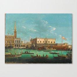Giuseppe Bernardino Bison (Palmanova 1762–1844 Milan) The Bucintoro at the Molo, Venice, on Ascensio Canvas Print