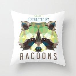 Raccoon Pet Parent Throw Pillow
