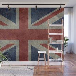 UK Flag, Dark grunge 1:2 scale Wall Mural