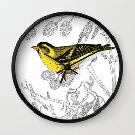 Technicolour Siskin Wall Clock