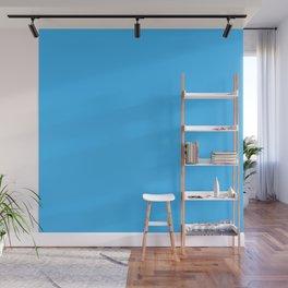 Cheap Deep Sky Blue Color Wall Mural