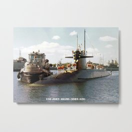 USS JOHN ADAMS (SSBN-620) Metal Print