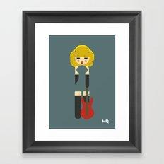Rock Bitch Framed Art Print