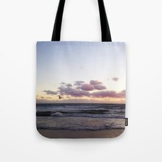 Sunset and Seagull Tote Bag