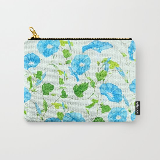 blue morning glory pattern Carry-All Pouch