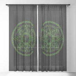 Zazaz Zazas Nasatanada Zazas (green acid edit) Sheer Curtain