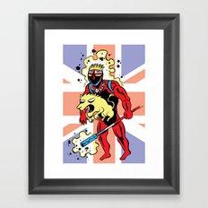 CAPTAIN BRITAIN Framed Art Print