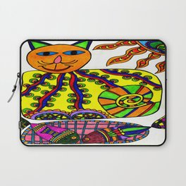 Cat and Fish Laptop Sleeve