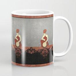 Rastafari Woman on Bongo Drum Coffee Mug