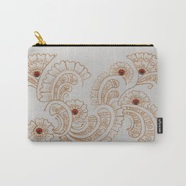 Gold Flower Carry-All Pouch