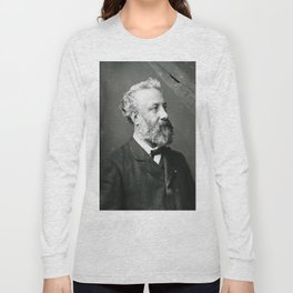 portrait of Jules Verne by Nadar Long Sleeve T-shirt
