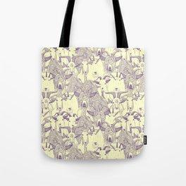 just goats purple cream Tote Bag